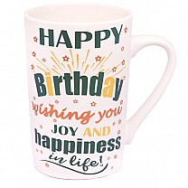 Wishing You Joy And Happiness In Life Birthday Ceramic Mug