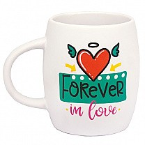 """Forever In Love"" Ceramic Coffee Mug - White"