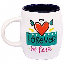 """Forever In Love"" Ceramic Coffee Mug - Purple"