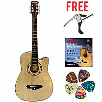 Dream Maker 38'' Acoustic Guitar With Bag - Pale Yellow (Free Guitar Kits)