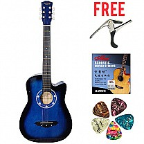 Dream Maker 38'' Acoustic Guitar With Bag - Blue (Free Guitar Kits)