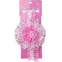 Elegance Rose Design Baby Headband - Light Pink