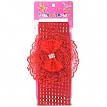 Designer Bow Baby Headband - Red