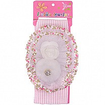 Beautiful Floral Design Baby Headband - White