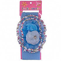 Beautiful Floral Design Baby Headband - Blue