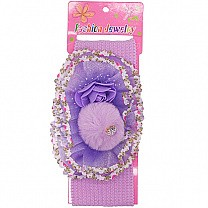 Beautiful Floral Design Baby Headband - Purple