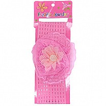 Flower Design Baby Headband - Light Pink