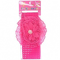 Flower Design Baby Headband - Pink