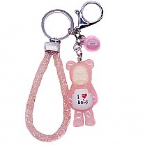 LED Light Color Changing Baby Key-ring (Pink)