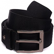Stylish Pin Buckle Black Belt For Men's