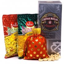 Haldiram's Snacks, Cashew & Chivas Regal