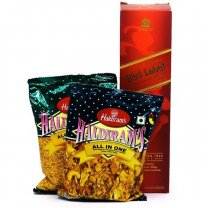 JW Red Label With Haldiram's Snacks
