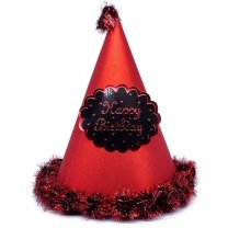 Red ''Happy Birthday'' Printed Party Hat