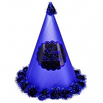 Blue ''Happy Birthday'' Printed Party Hat