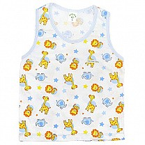 Blue Cotton Sendo Vest For Baby (Size M & L)