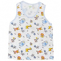 Blue Cotton Sendo Vest For Baby (Size XL)