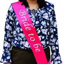 Bride To Be Sash - Dark Pink