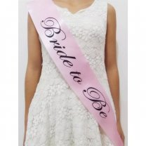 Bride To Be Sash - Pink