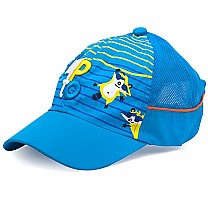 Jump to Embroidered Cap For Kids - Sky Blue