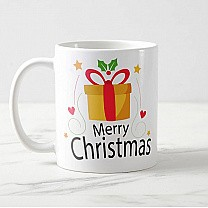 """Merry Christmas"" Printed Mug Gift (02)"