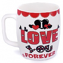 'I Love You Forever' Printed Ceramic Mug