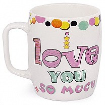 'I Love You So Much' Printed Ceramic Mug
