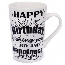 ''Happy Birthday Wishing You Joy & Happiness'' Printed Ceramic Mug