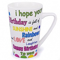 Birthday Coffee Mug With Caring Message