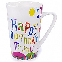 'Happy Birthday To You' Printed Ceramic Coffee Mug