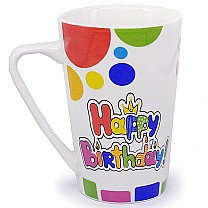 'Happy Birthday' Printed Ceramic Coffee Mug