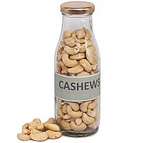 Cashews Nuts in Transparent Glass Jar- 150gm