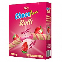 Chocofun Rolls (Strawberry) 100g