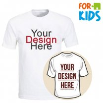 Custom Tshirt Printing With Your Photo and Text For Kids (Medium & Large)