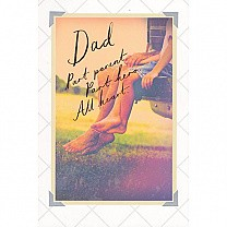 ''Dad Part Parent Part Hero All Heart'' Greeting Card