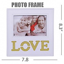 ''Love'' Table Top Wooden Photo Frame 8.3''