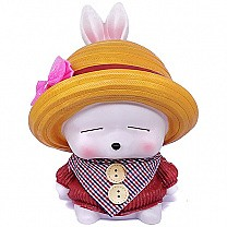 Cute Doll Piggy Bank Case For Kids - Red
