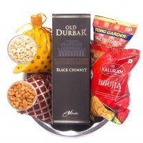 Old Durbar Black Chimney & Snacks Hamper for Bhai Tika