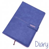 Premium Quality Diary PU Leather Notebook French Blue