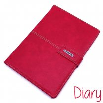 Premium Quality Diary Notebook Leather Look Finish Red