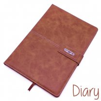 Premium Quality Diary Notebook Leather Look Finish Tawny Brown