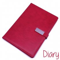 Premium Quality Diary Notebook Leather Look Finish Candy Red