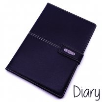 Premium Quality Diary Notebook Leather Look Finish Black