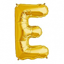 "Foil Balloon Alphabet ""E"" - Bright Golden"