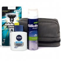 Shaving Kit Travel Bag (Razor, Foam, Aftershave)