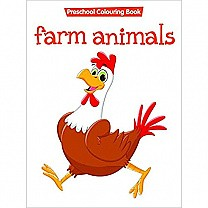 Farm Animals Preschool Colouring Book