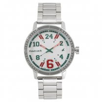 Fastrack White Dial Analog Watch for Men (3178SM02)