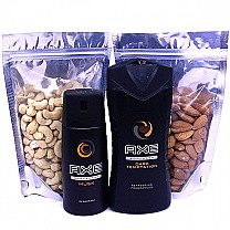Dry Nuts With AXE Body Spray & Body Wash