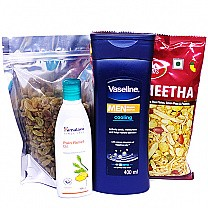 Kismis, Namkeen, Lotion & Pain Relief Oil Combo