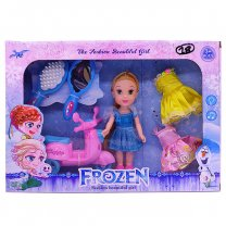Frozen Princess Doll Elsa With Dress & Accessories