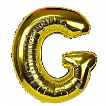 "Foil Balloon Alphabet ""G"" - Bright Golden"